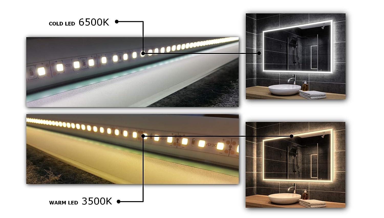 Moderne Miroir Murale Sydney ALASTA/® Miroir LED Miroir /Éclairage LED et Accessoires Votre Taille