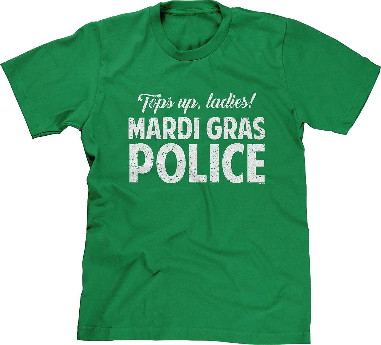 Blittzen Mens T-shirt Tops Up Ladies Mardi Gras Police