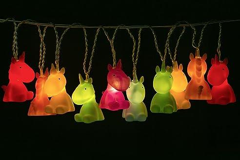 Einhorn Lichterkette - 150 cm - 10 LED Lampen - für Hochzeit ...