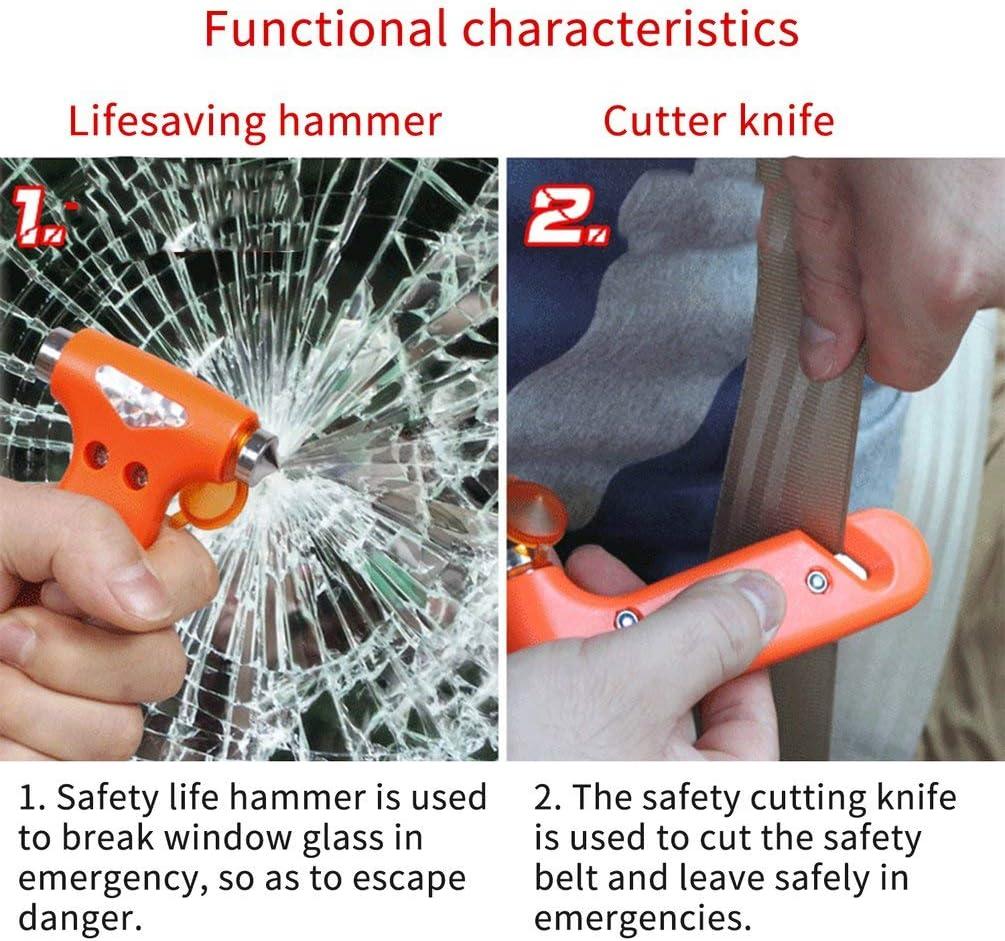 2 Mini sécurité Marteau voiture Life-Saving Escape Marteau fenêtre Empe