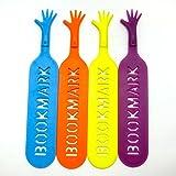 [Imotti] しおり ブックマーク 手 モチーフ 4色セット ブックマーカー (4本X1セット)
