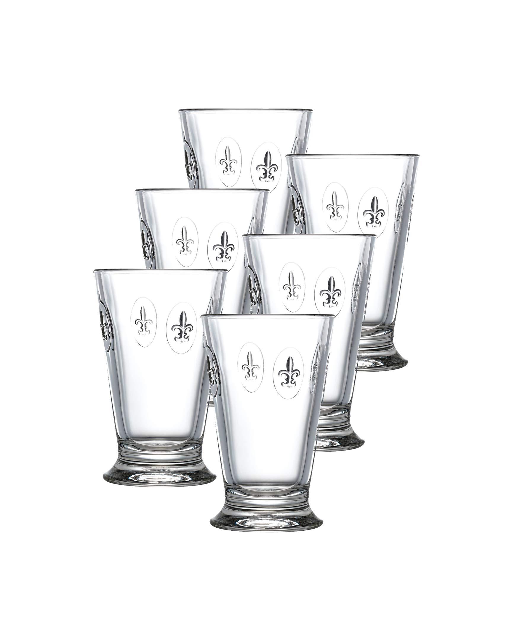 La Rochere Set Of 6, 10-ounce Fleur De Lys Double Old Fashioned Glasses