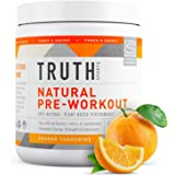 Natural PreWorkout Powder- Preworkout for Men & Women - Plant Based, Keto & Vegan Friendly - Energy, Focus & Performance - Tr