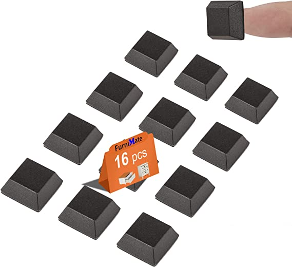 Pack 80 Pack of 10 Adhesive PD.2127BL PU Stick On Black Bumper//Feet Polyurethane Square 2.9 mm PD.2127BL