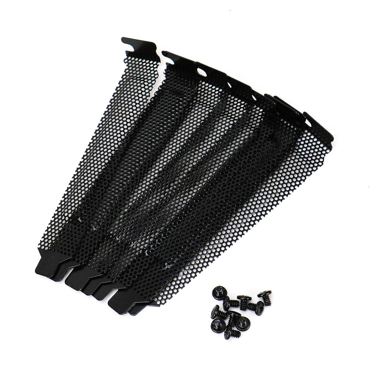 5pcs//lot Black metal slot covers dust filter blanking plate for PCI TE