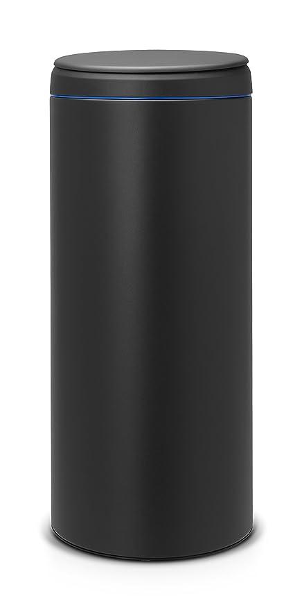Brabantia FlipBin 106927 - Cubo de Basura, 30 l, Tapa Gris Oscuro, Cuerpo