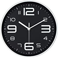 45Min 10-Inch 3D Number Dial Face Modern Wall Clock, Silent Non-Ticking Round Home Decor Wall Clock with Arabic Numerals…