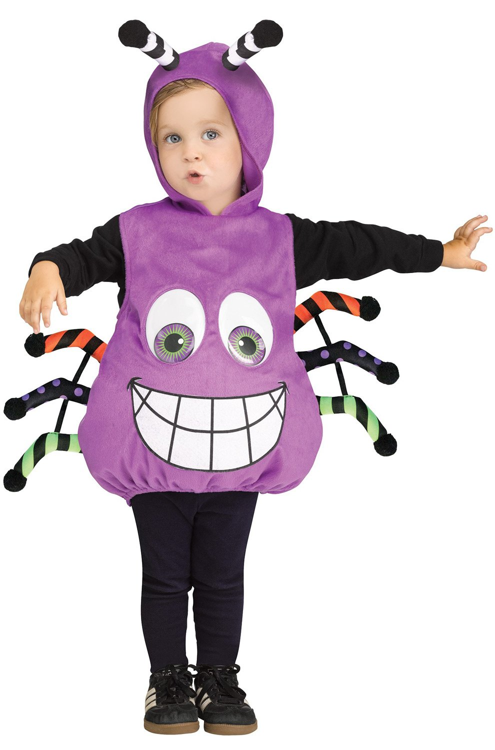 - 7192tqgxfbL - Fun World Googly Eye Spider Toddler Costume- Purple