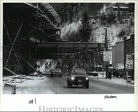 Vintage Photos 1990 Press Photo I-90 puente construcción Oriental de Coeur d alene