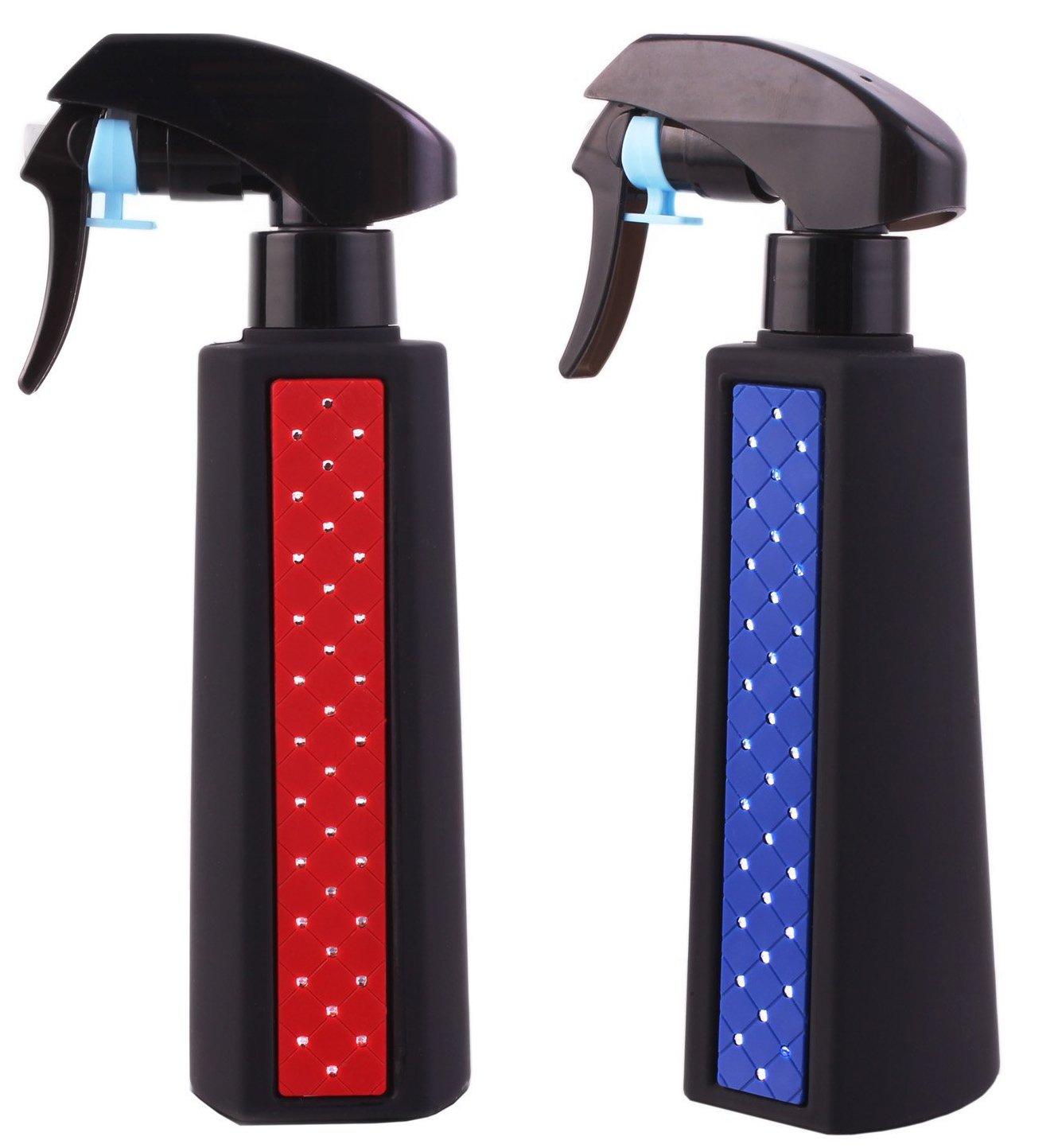 Flacone Spray per Parrucchiere Spruzzatore con Nebulizzatore – 270 ml, con superficie coperta di strass di cristallo (Confezione da 2) Perfe Hair SP005-2