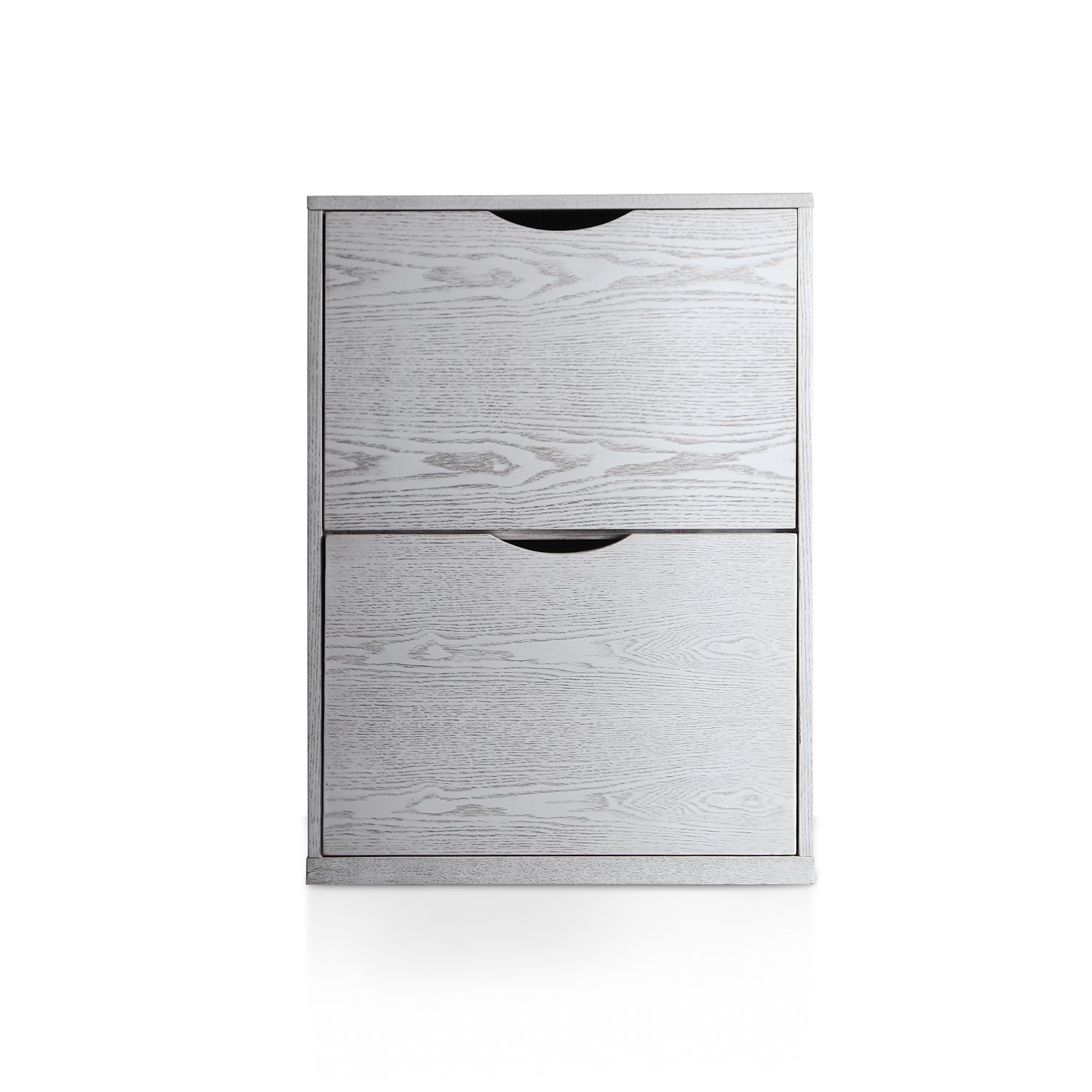 Haven Home Bauer File Cabinets in White Wash with 2 Filing Drawers Hives and Honey 6006-464