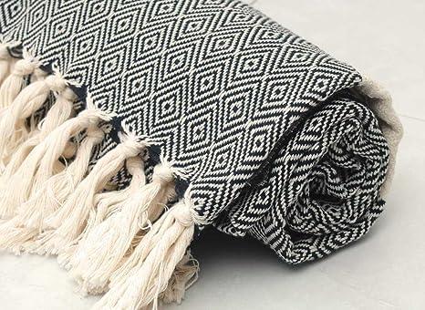 Turco diseño de diamante de alta calidad algodón turco toalla de baño y toalla de playa