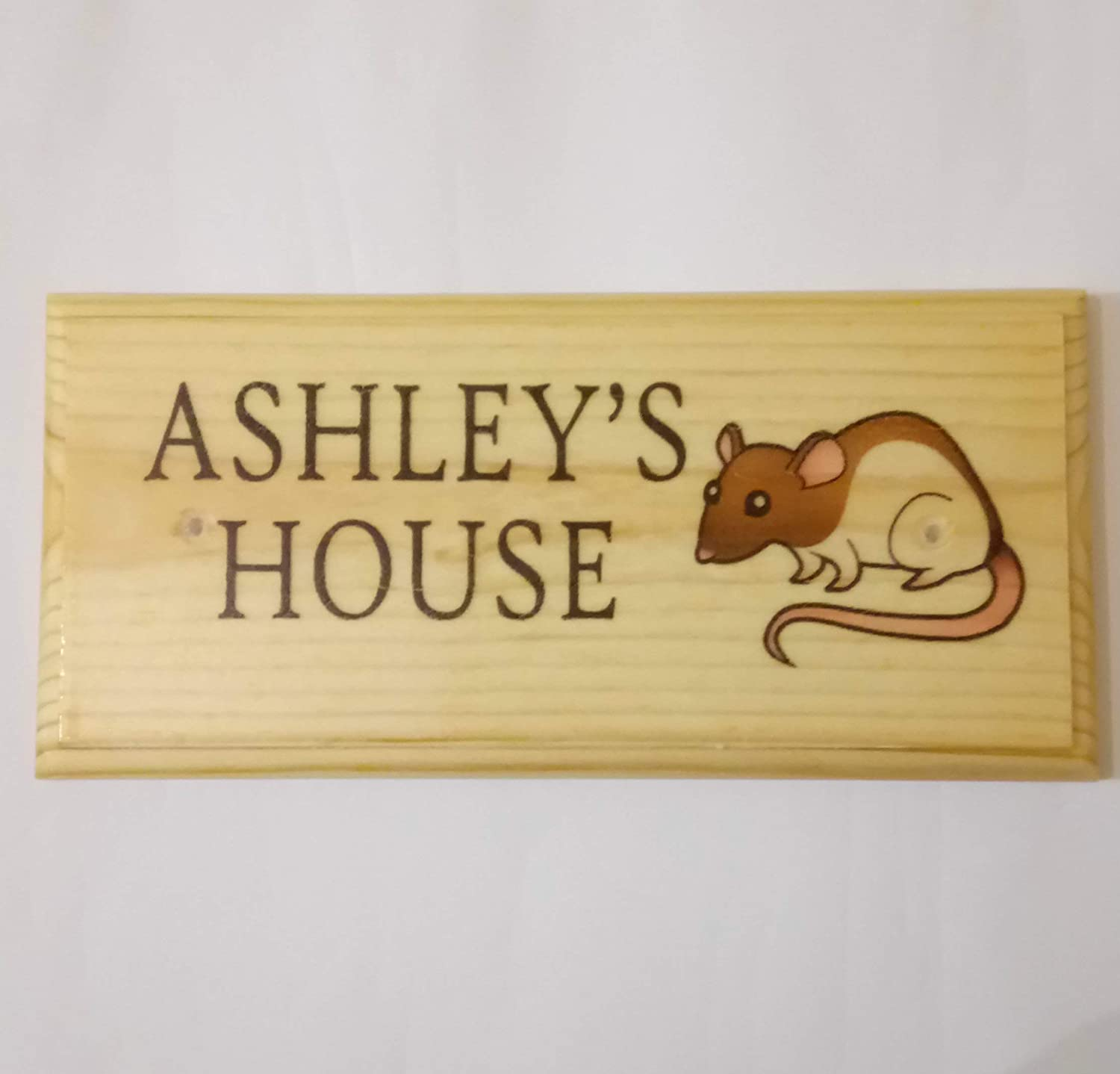 Custom Mouse Cage Plaque Personalised Rat House Sign