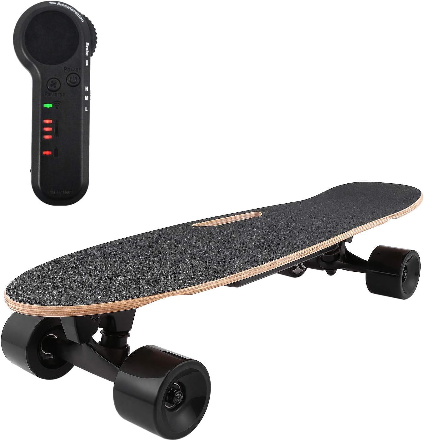Oppikle Elektrisches Mini Fischbrett,Professionelles Longboard Elektrolongboard mit max 20 km//h,Komplettboard Elektrisches Skateboard Cruiser Boards
