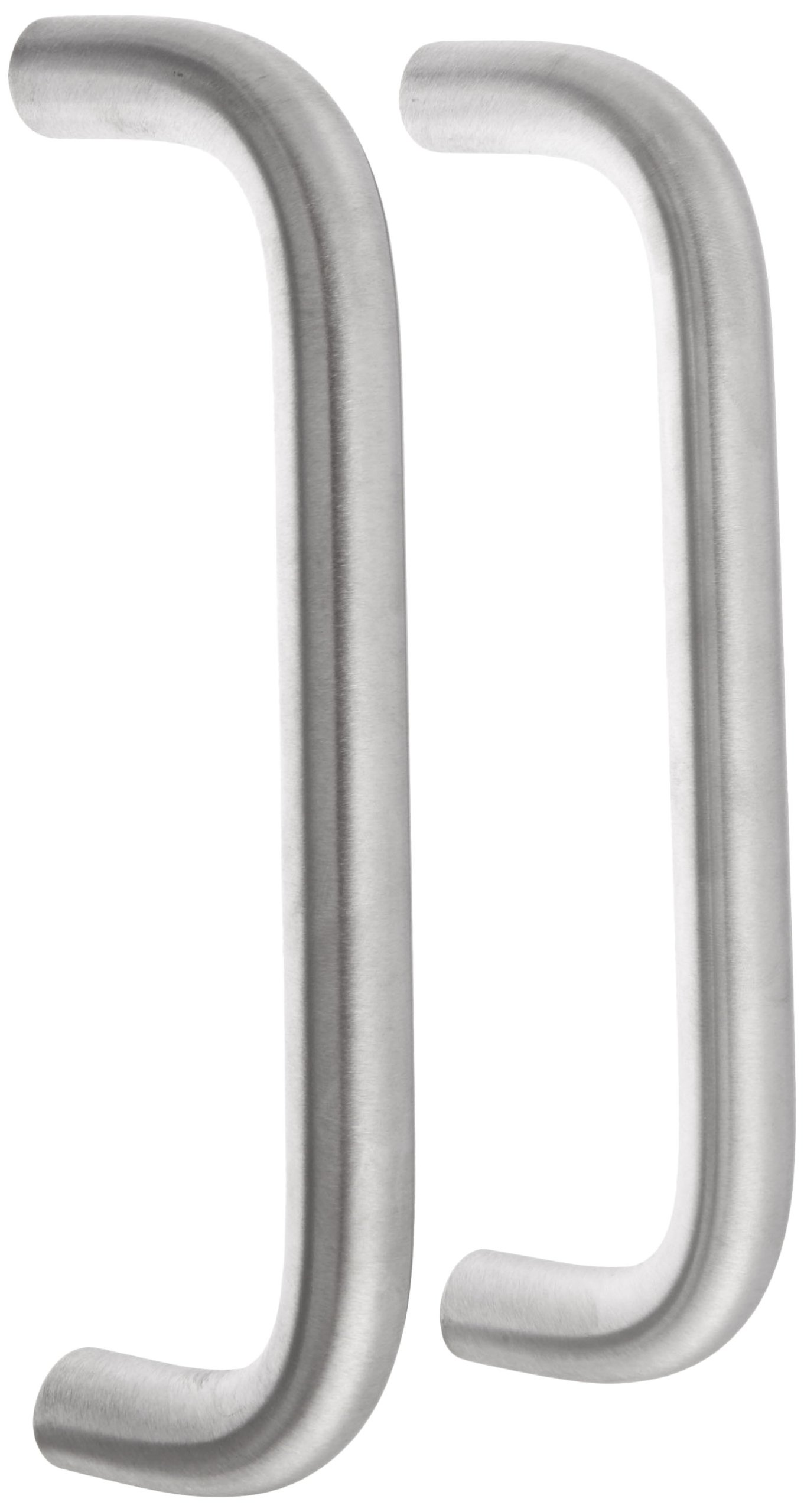 Rockwood 107BTB5.32D Stainless Steel Straight Door Pull Set for 1-3/4'' Metal or Wood Door, 3/4'' Diameter x 8'' Center-to-Center, Type 5 Back to Back Mount, Satin Finish
