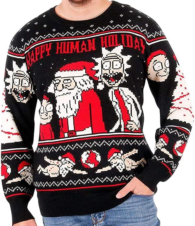 Happy Human Holiday Christmas Sweater