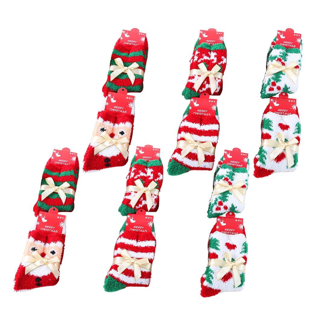 Coofit 6-Pair Mix Design Socken Frau Mädchen Weihnachten Festlicher ...