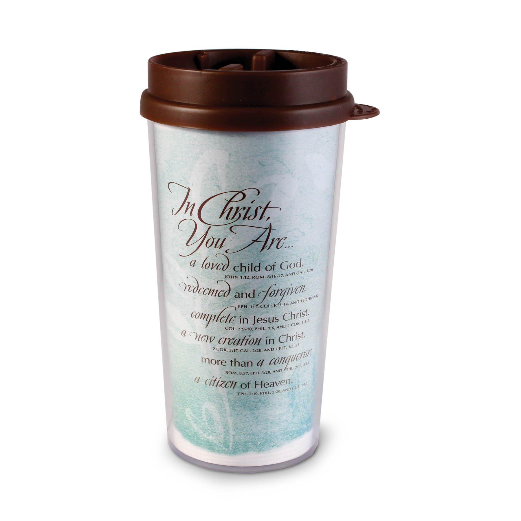 Lighthouse Christian Products Tin Christ Woman Growing Heart Wavy Acrylic/Plastic Tumbler Mug, 16 oz by Lighthouse Christian Products