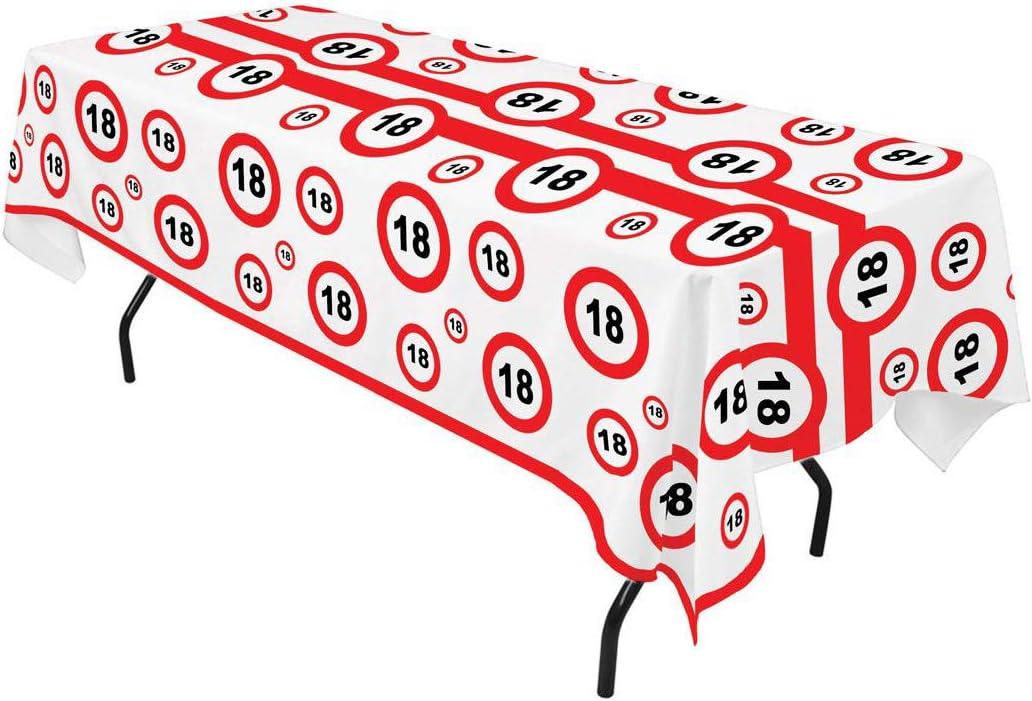 Traffic Sign Nr Verkehrsschild Schild TrendClub100/® Geburtstag Tischdecke 270 x 136 cm 18