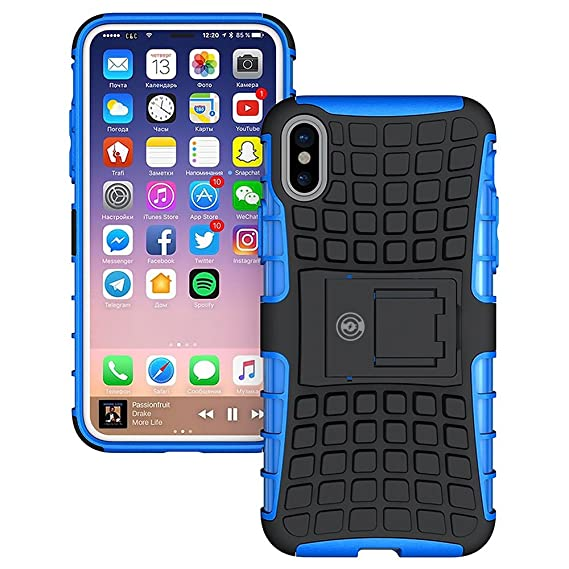 new concept 04d7e 4b0a7 Blue iPhone X Case: Protector - iPhone X Case Blue Silk with Kickstand -  Slim Lightweight Cell Phone Case & Max Protection - The Clear Choice for  Dual ...