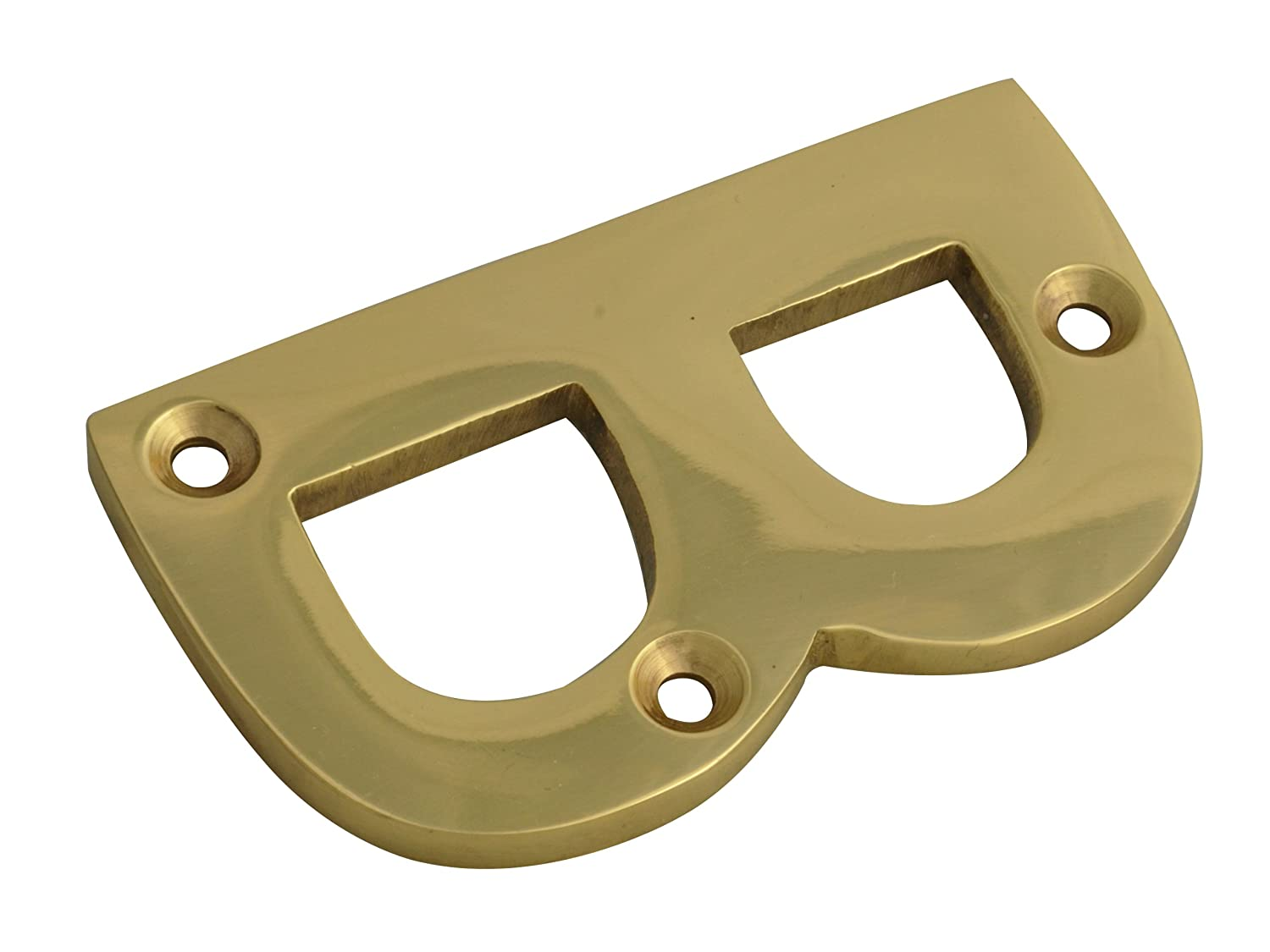 Forge Numeral Letter B - Brass Finish 75mm (3in) FGENUMBBR75