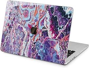 Lex Altern Hard Case for Apple MacBook Pro 15 Air 13 inch Mac Retina 12 11 2020 2019 2018 2017 2016 Shell Touch Bar Beautiful Crystal Cover Purple Amethyst Print Girl Laptop Texture Plastic Design