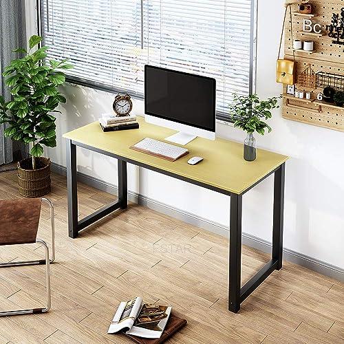 FSTAR 55″ Computer Desk Modern Simple Design Sturdy Office Desk Writing Table