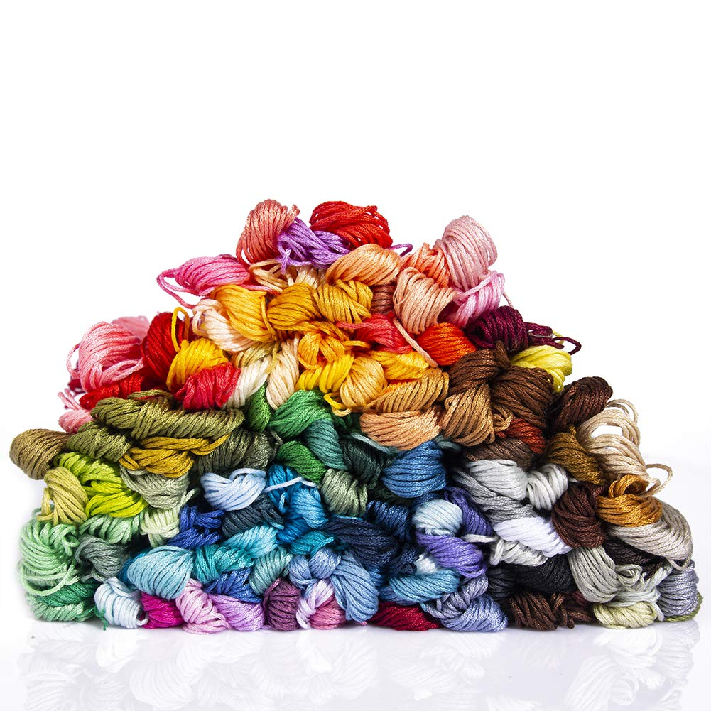 Crafts Floss Embroidery Floss Embroidery Thread Bracelets Floss 150 Skeins Rainbow Color Cross Stitch Threads