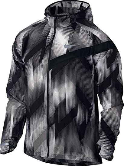 Amazon.com : Nike Men's Shield Impossibly Light Dri-Fit Running Jacket  833547 (Black, Large) : Sports & Outdoors
