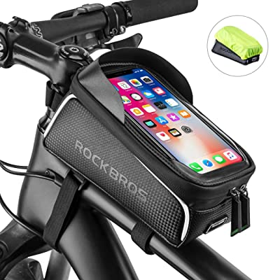 Bike Phone Front Frame Bag Bicycle Bag Waterproof Bike Phone Mount Top Tube Bag Bike Phone Case Holder Accessories Cycling Pouch Compatible