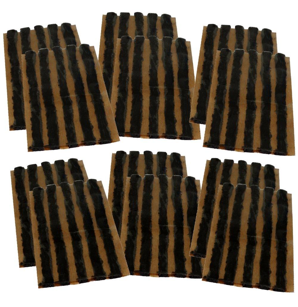 AERZETIX: Lot de 60 mè ches 6mm 10cm Noir pour kit de ré paration de Pneu C40657