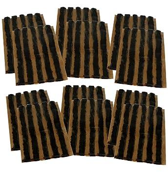 AERZETIX: Juego de 60 mechas 6mm 10cm Negro para Kit de reparacion de neumaticos C40657: Amazon.es: Coche y moto