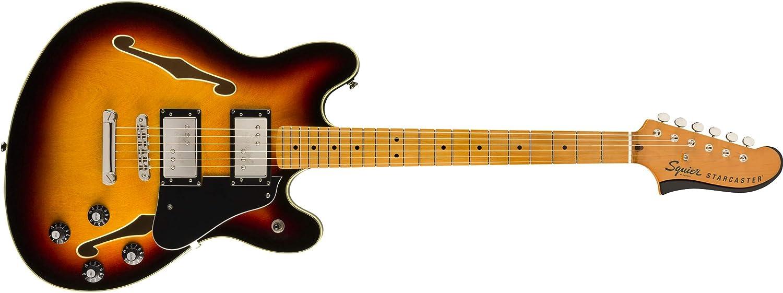 Squier by Fender Classic Vibe Starcaster – Diapasón de arce – 3 colores Sunburst