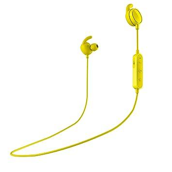 SPC Stork - Auriculares inalambricos (Manos Libres, Control Remoto de la música, micrófono incroporado), Color Amarillo: Amazon.es: Electrónica