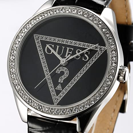 Amazon.com: Guess Ladies Watches Guess Trend Ladies Leather Strap W65006L2 - WW: Guess: Watches
