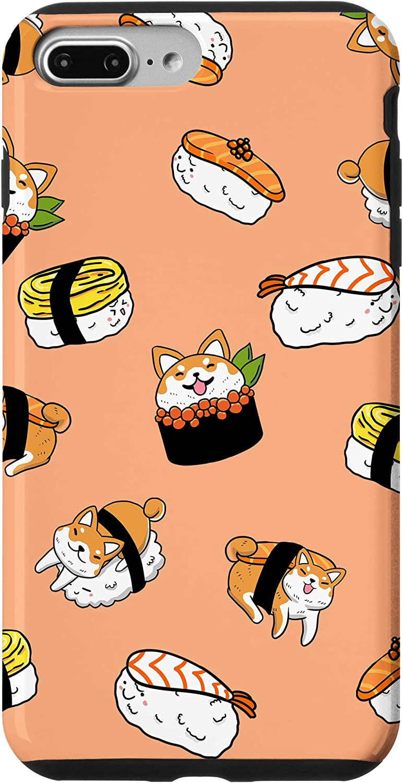 iPhone 7 Plus/8 Plus Shiba Inu Mixed Sushi Funny Japanese Food Pun Dog Lover Gift Case