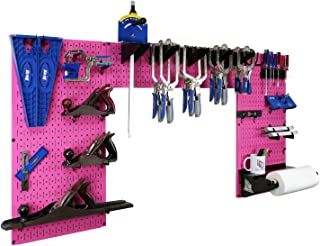 product image for Wall Control Woodworking Tool Storage Organization Kit - Lazy Guy DIY Edition Wood Working Tool Supply Organizer for Do-It-Yourself Woodworkers and Makers (Pink Pegboard)