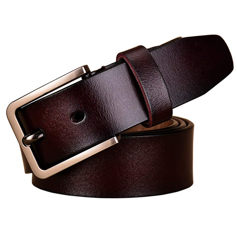 Mistere Fashion Cow womanPin buckle strap,100cm,Coffee