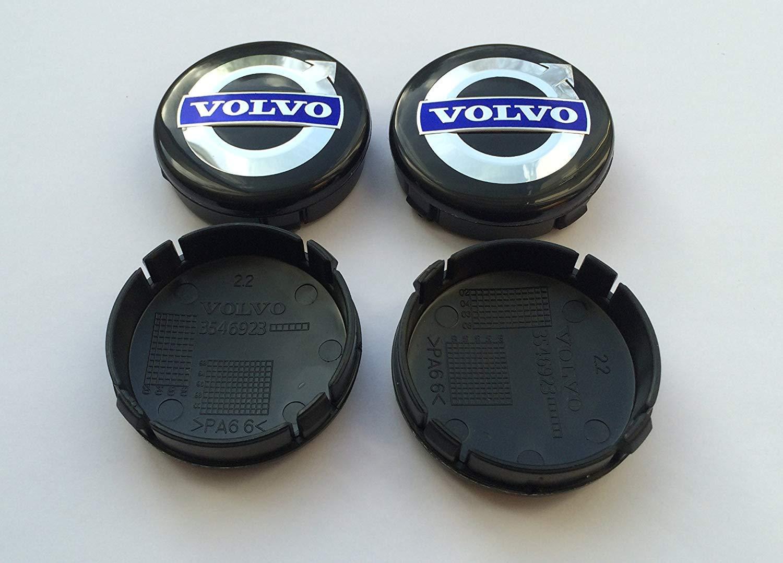 Set 4 Coprimozzo Volvo Portachiavi in Omaggio,Tappi per Cerchioni in Lega con Logo 64 mm,xc40 60 90 V S C30