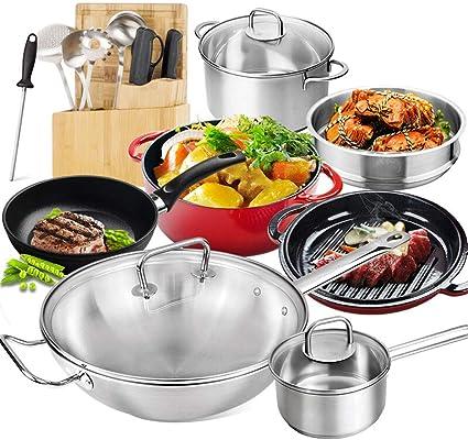 Batería de cocina de 30 cm, estilo chino, hornillo de wok ...