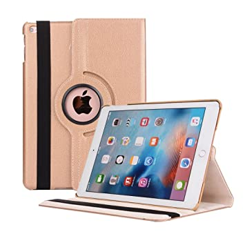 iPad Air 2 Cover Case,Dream Wings 360 Degrees Rotating Multi Angles Screen Protective Flip Folio Stand Smart Case Cover for Apple iPad Air 2 9.7 inch ...