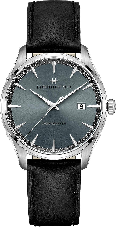 Reloj Hamilton Jazzmaster Cuarzo 40mm Piel Esfera Negra H32451742