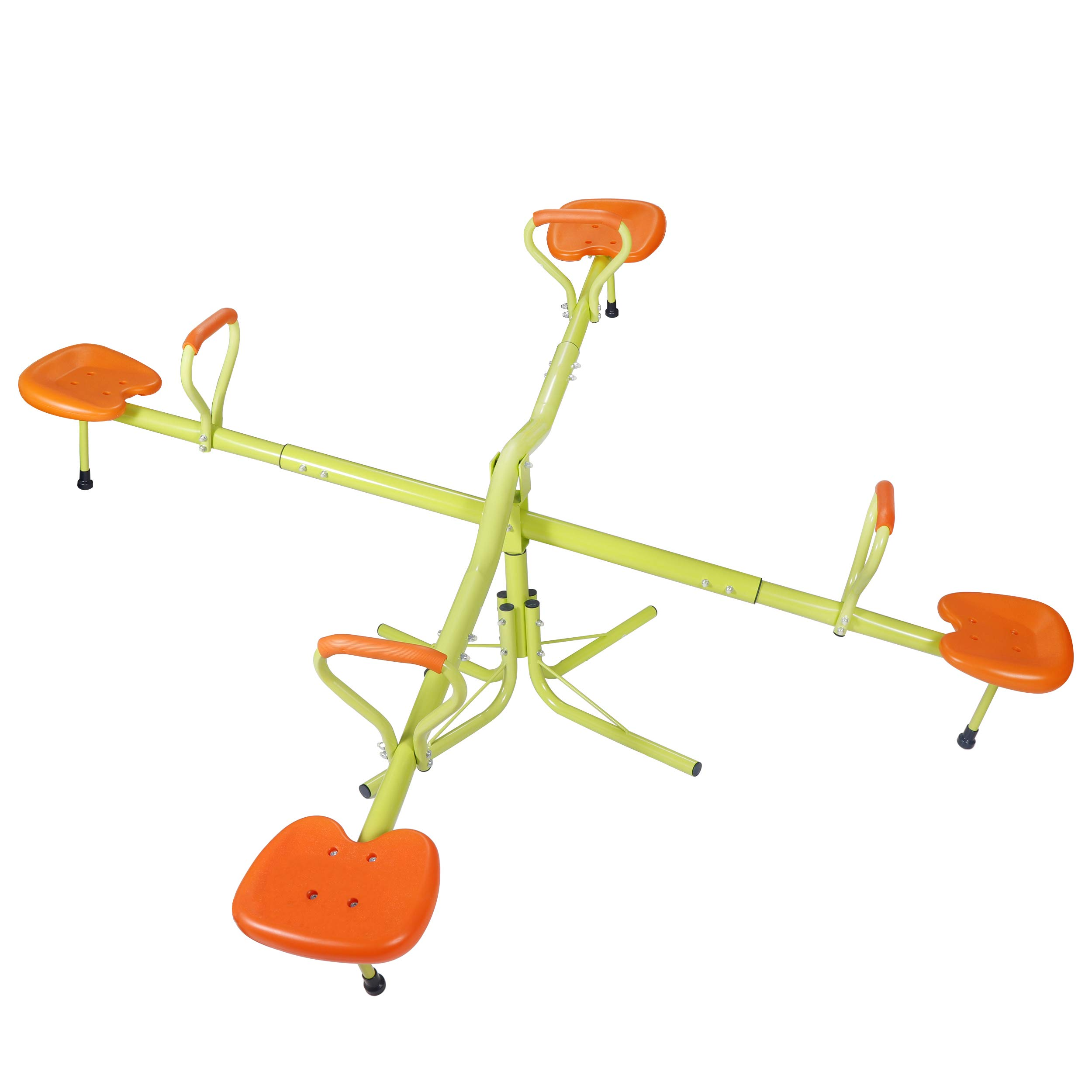 ZENY Kids Seesaw Swivel Teeter-Totter 360 Degree Rotation Outdoor Playground Spinning Ride On Toys for 4 Children by ZENY