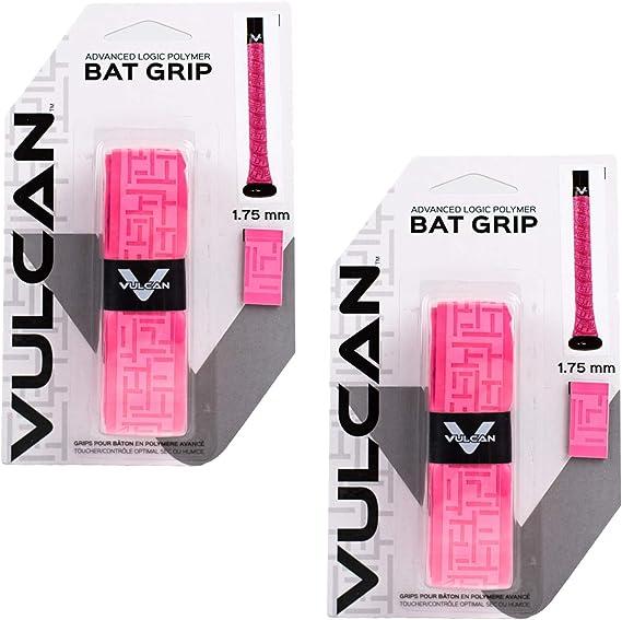 -... Vulcan béisbol Softbol bate de Cinta de Agarre 1.0 mm, 2-Pack, varios colores