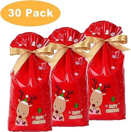 YQing 30 Piezas Bolsa de Regalo de Navidad, Saco Navidad Packaging Sacos Regalo Bolsa con Cordon Navidad Decoracion Regalos: Amazon.es: Hogar