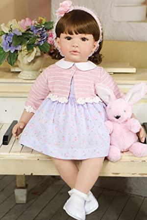 Pursue Baby Cute Lifelike Toddler Princess Girl Doll With Curly Hair
