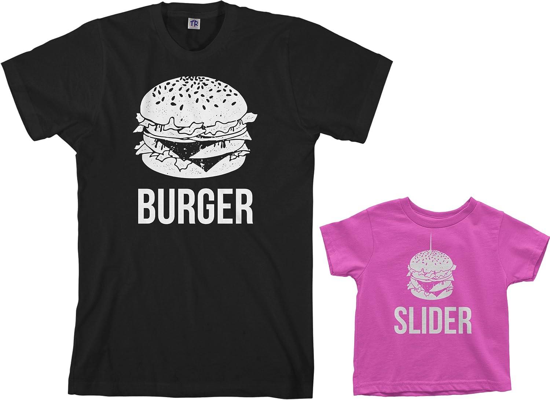 Threadrock Burger & Slider Toddler & Men's T-Shirt Matching Set