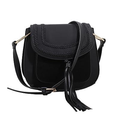 59f3c2d318a3 MKF Collection Riga Designer Saddle Bag by Mia K. Farrow (Black ...