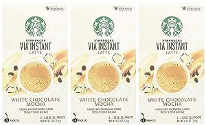 Starbucks Via Instant White Chocolate Mocha (3 Boxes 15-1.23oz Packets)