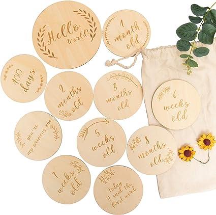 New Baby Gift Baby Pregnancy Baby Memories Baby Announcement 24 Milestones Unisex Baby Milestone Cards 12 Cards Baby Shower Gift